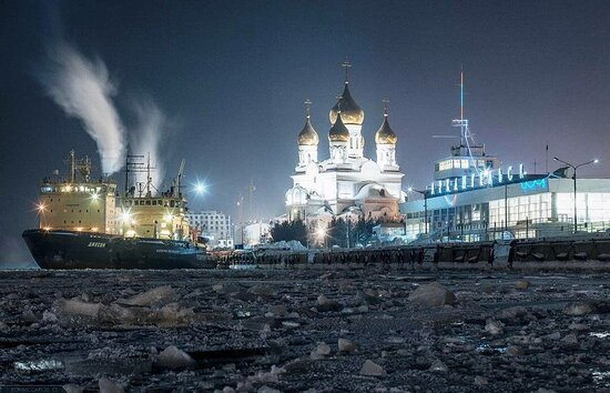 Arkhangelsk, Russia: Архангельск зимой