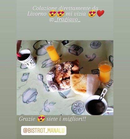 La colazione di manalù in trasferta (fuori Livorno)