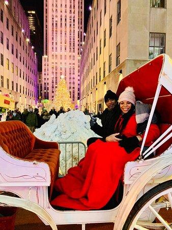 NYC Christmas Lights Carriage Ride🎄🗽🎩🎅