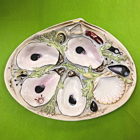 Antique UPW oyster plate