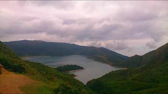 Sao Miguel, Portugal: Almost the shape of a square from this point.