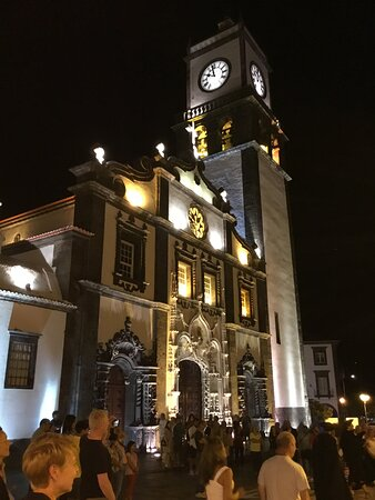 The square in front of the Church is used in the evening for concerts and performances.