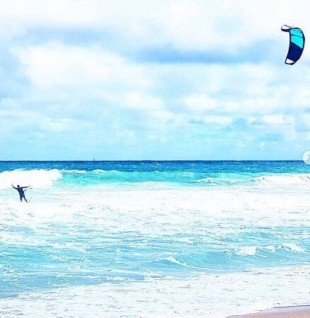 Wind surfing at Scarborough Beach, Wester, Australia