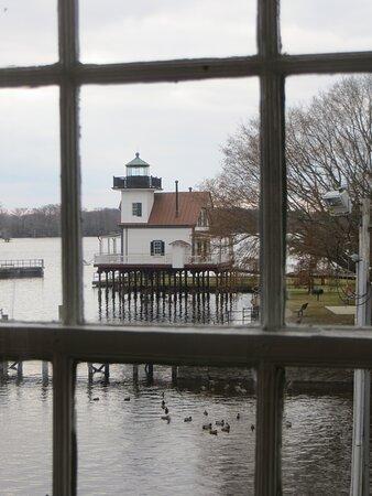 Shot through Barker House window