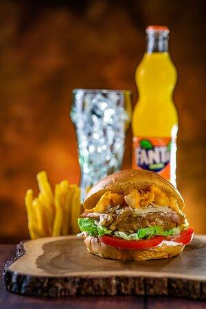 Deliciosa hamburguesa Pacifico!!