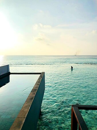 Water Villa with pool, sunset side