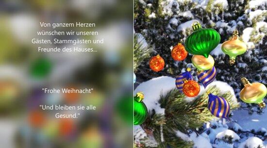 """In tiefer Dankbarkeit gerade in diesen herausfordernden Zeiten wünschen wir all unseren Gästen, Stammgästen und Freunde des Hauses Wirtshaus Pierergut  """"Besinnliche Weihnacht"""" und sehr viel Freude mit den Wirtshaus Pierergut  - Christbäumen"""""""