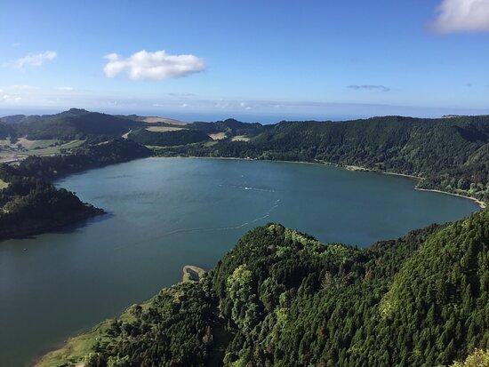 Sao Miguel, Portugal: Lagoa das Furnas from  Pico do Ferro Viewpoint.
