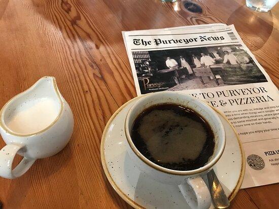 ...decent coffee with hot milk..