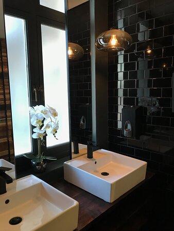 ...neat & tidy restrooms...