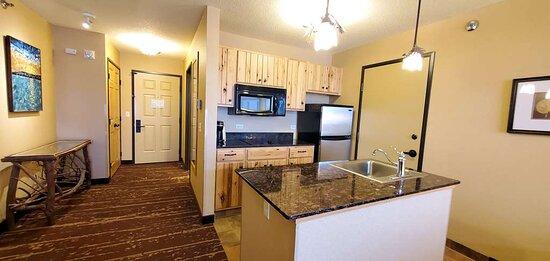 Lakefront King kitchenette