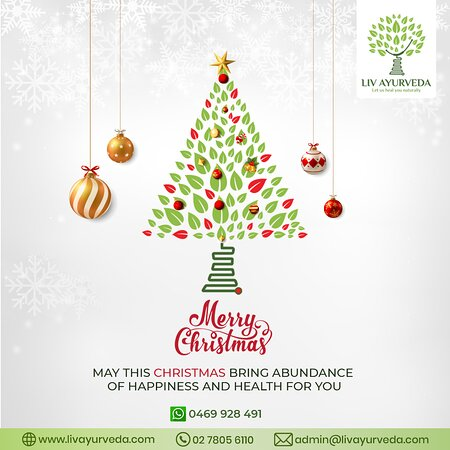 Liv Ayurveda wishes you and your loved ones a happy and healthy Christmas. May this auspicious day shower you all with peace, health, and, prosperity.