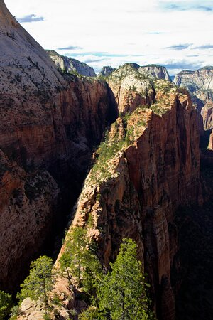 And overhead view of Angels Landing, Zion National Park