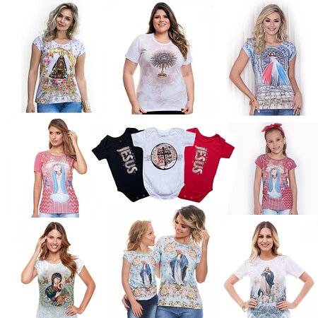 Sao Jose Dos Campos, SP: Camisetas católicas. Bela Rainha Presentes. Shopping Centro SJCampos, loja 30, 1º andar.