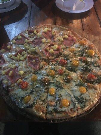 Hawaiin & margarita pizza 1/2 & 1/2