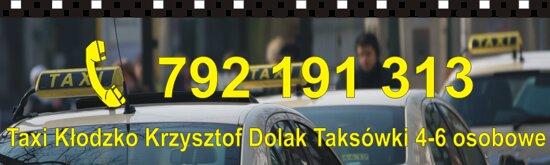 https://taxiklodzko.pl Zapraszamy - taksówki 4-6 osobowe. Miła atmosfera,bezpiecznie i na czas.
