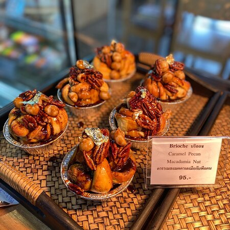 #brioche #kanompordeecome  #คาราเมลแมคคาเดเมียกับพีแคน ฿95.- Caramel Pecan Macadamia Nut Butter.