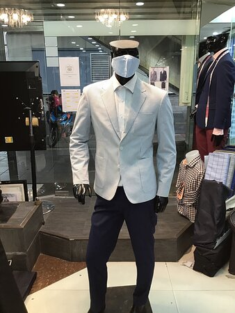 New normal times . Mask a must . And yes , we take care of our customers and their families .We tailor masks for all in the same fabric as their shirts .