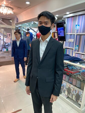 Another friend of my son getting well dressed for his graduation party