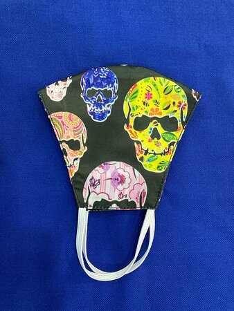 Fun loving people can also get tailored Absurd designs and we have plenty . Newer masks are with hold threads to secure at the back of the head please .