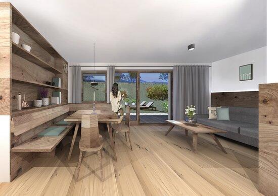 Versciaco di Sopra, Włochy: Apartment-Suite NATURA with private garden