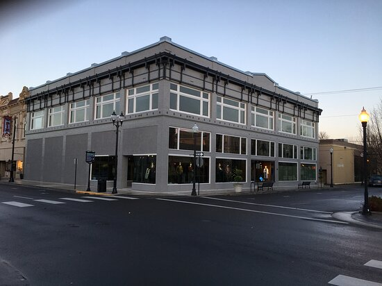The Natty Dresser's new location 124 Broadalbin Street SW, Downtown Albany, Oregon. The building was built as a department store in 1912.