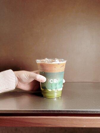 椰子·抹茶咖啡