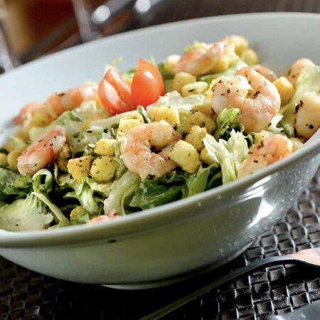 Salada Ceasar de Camarão