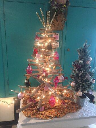 Inside Christmas decor.
