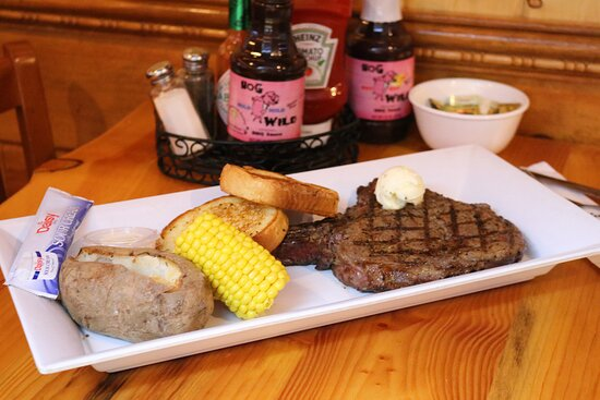 Friday & Saturday after 4:00 p.m. 18 oz. COWBOY RIBEYE DINNER with your choice of Potato, your choice of Vegetable, your choice of Soup or Salad & served with Garlic Bread. $25.95 Limited Quantity Available.