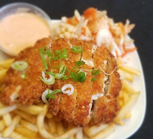 Chicken Ubi with fries!