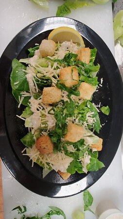 Caesar Salad with Honaunau Baby Romaines! YUM