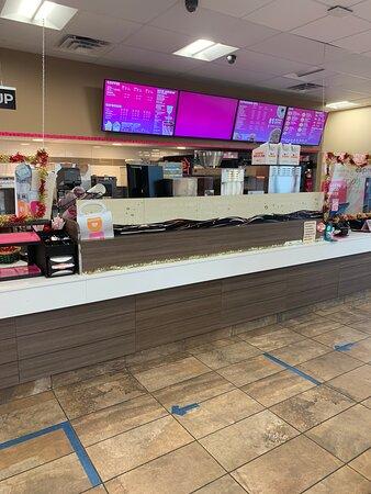 Front cash register area at Baskin-Robbins in Wichita Falls, TX.