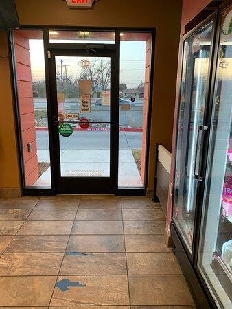 Doorway at Baskin-Robbins in Wichita Falls, TX.