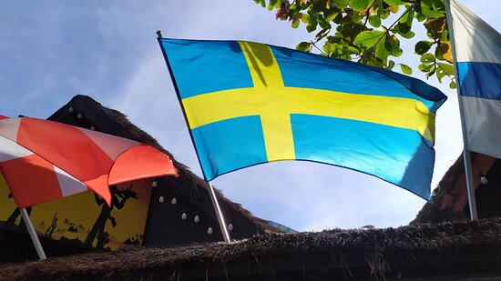 Swedish flag at Tequila Sunrise