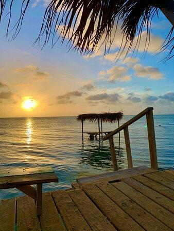 San Pedro, Belize: Beautiful sunsets at Secret Beach Cabanas!