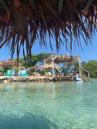 San Pedro, Belize: The beach at Secret Beach Cabanas!