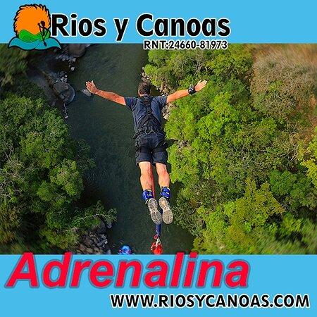 Salta en bungee jumping sobre el río fonce en San Gil, Santander. Son 70 metros de adrenalina pura. O si deseas mayor adrenalina realiza nuestro salto de bungee jumping de 140 metros. el mas alto de Colombia