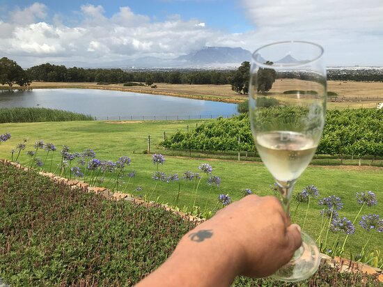 ....Sparkling-wine with a breathtaking view..