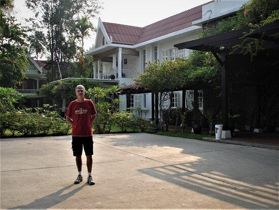 "Arriving at ""Maison Souvannaphoum Hotel"" in Luang Prabang."