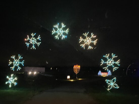 Winter Wonderfest snowflake arch