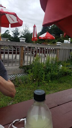 Pemaquid, ME: A view of other tables in the back.