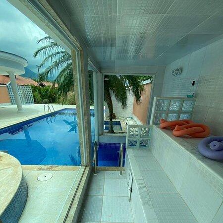 Vila Muriqui, RJ: Fazenda Muriqui Casa de 3 quartos com piscina, hidromassagem, sauna e espaço gourmet