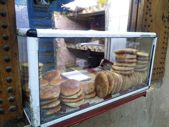 Pães típicos do local.