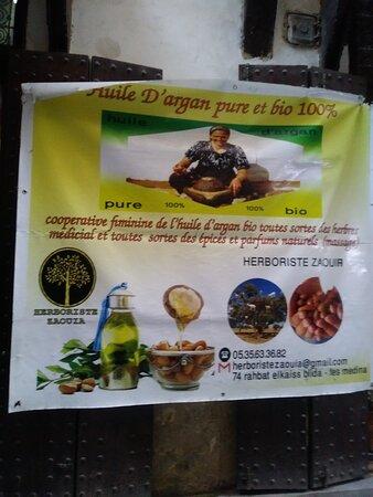 Óleo de argan, produto típico do Marrocos.