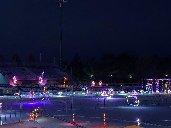 Augusta, NJ: Skyland Stadium  - Drive-Thru Xmas Lights