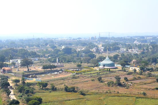 View of the temple from the hilltop