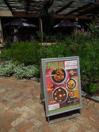...the menu at MoYo restaurant