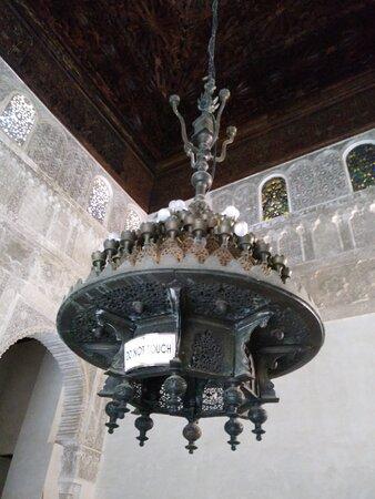 Detalhe dos ornamentos.