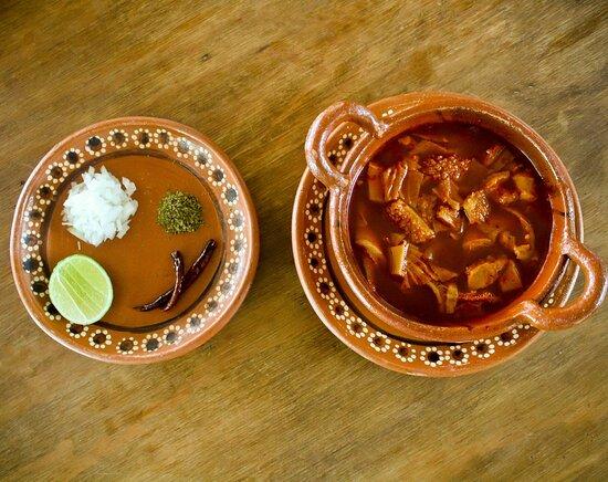 Rica pancita, platillo tradicional mexicano.